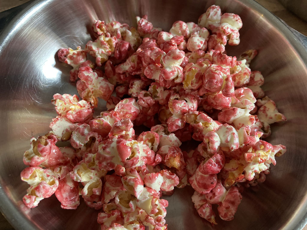 rotes popcorn